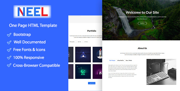 Neel Onepage Creative HTML5 Template