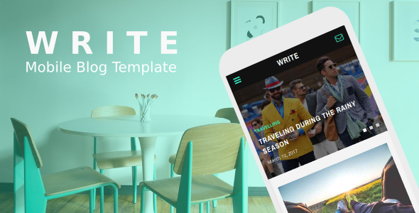 Write - Mobile Blog Template
