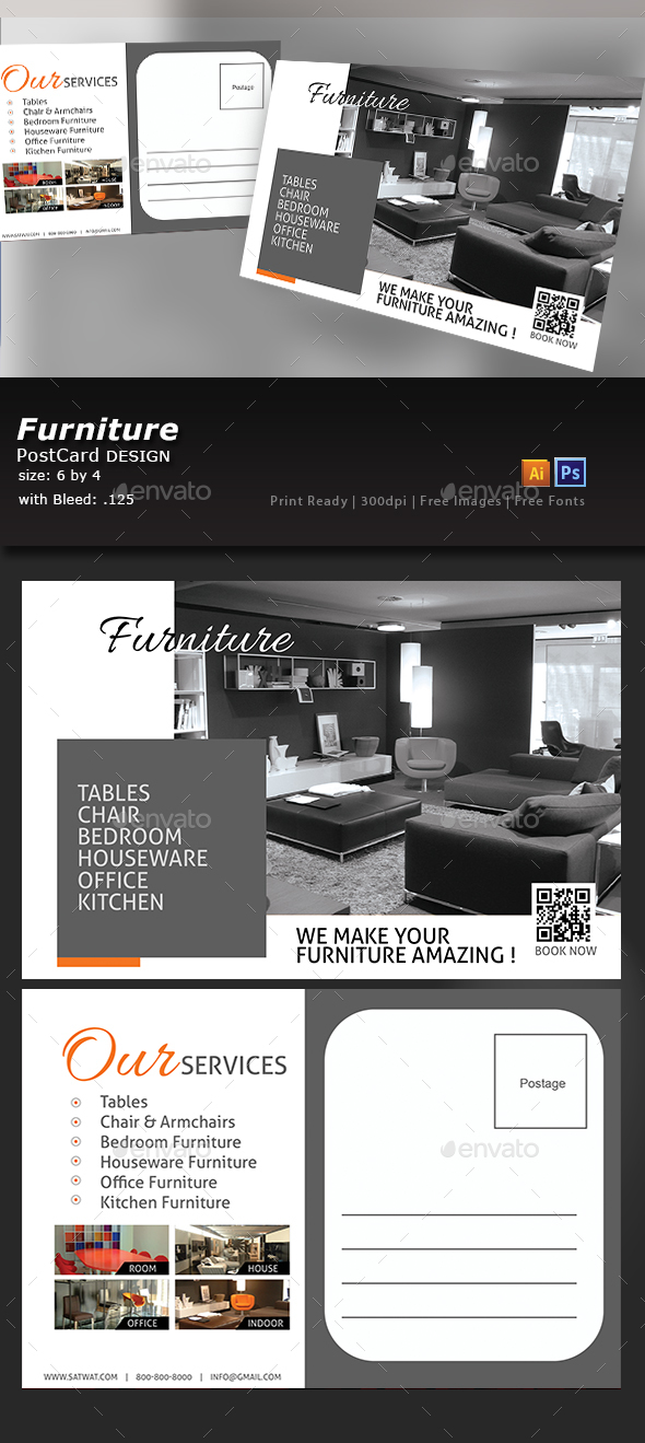 Furniture Store Postcard - Flyers Print Templates