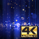 4K Blue-Gold Glitter Drops - VideoHive Item for Sale