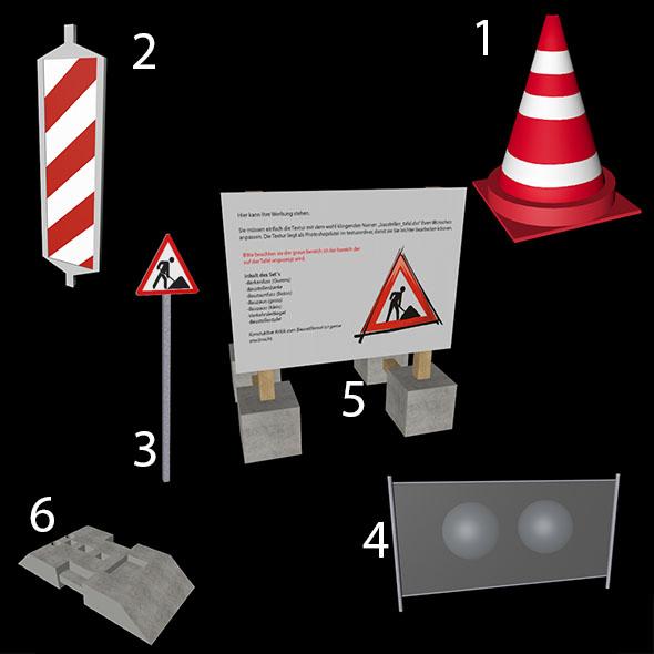 Baustellen Set entpacken - 3DOcean Item for Sale