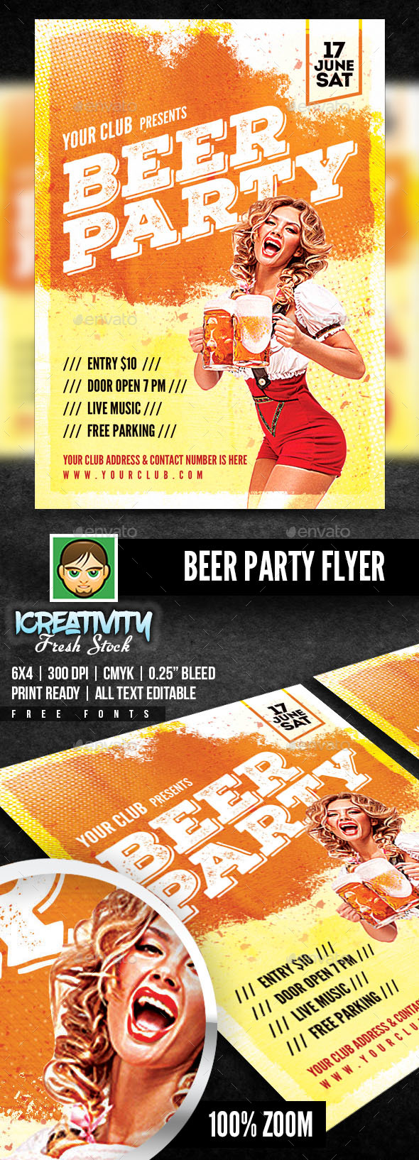 Beer Party Flyer - Flyers Print Templates