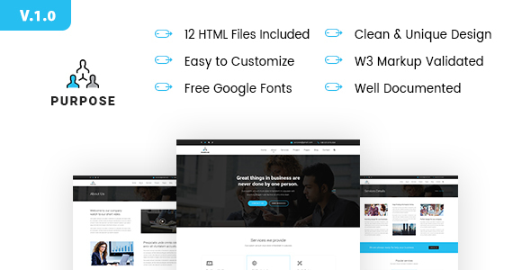 PURPOSE – Creative Business HTML5 Template