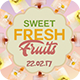 Fresh Fruits Flyer Template - GraphicRiver Item for Sale