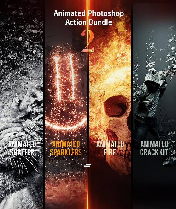 Animated Photoshop Action Bundle 02 - Photo Effects Actions