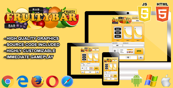 Fruitybar - HTML5 Casino Game - CodeCanyon Item for Sale
