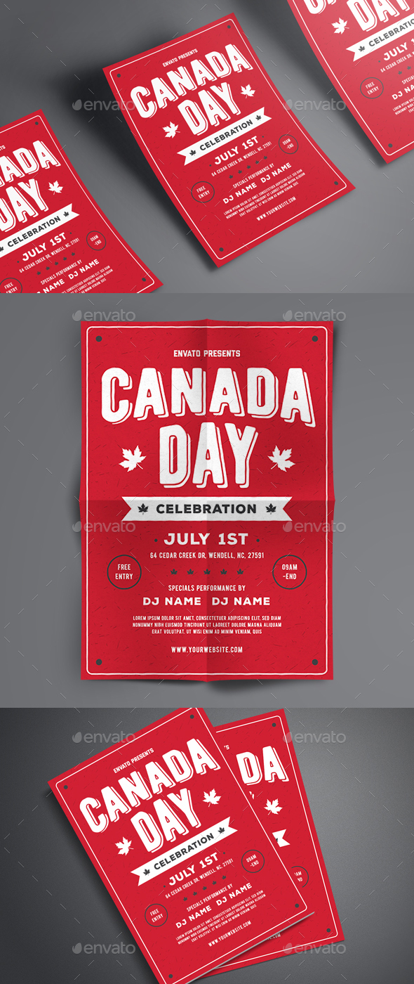 Canada Day Flyer - Events Flyers