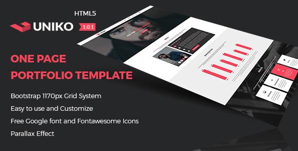 UNIKO - Personal and Portfolio HTML5 Template