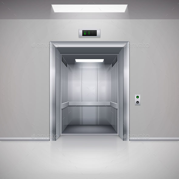 Elevator Doors By Dvarg Graphicriver