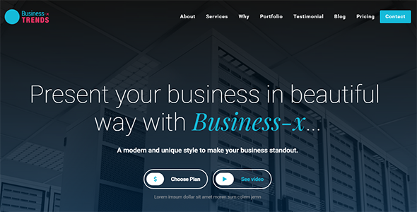 Business-x: WordPress Business Landing Page