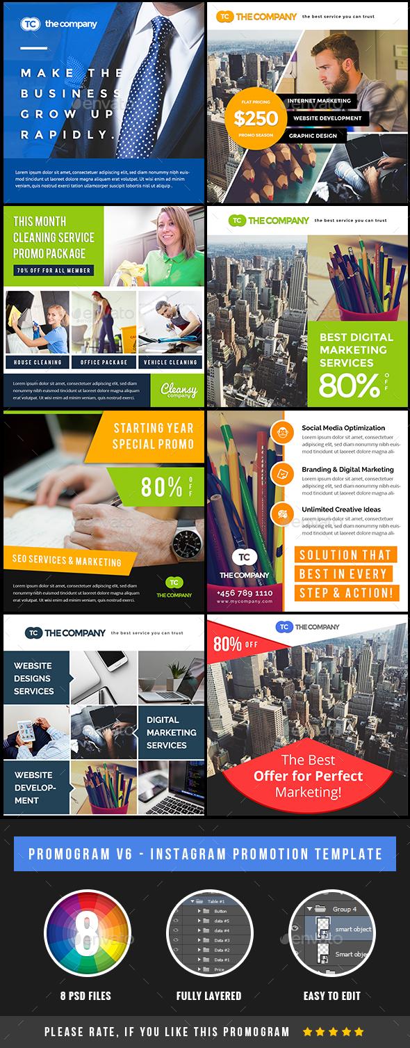 Promogram Vol.07 - Instagram Promotion Template - Miscellaneous Social Media