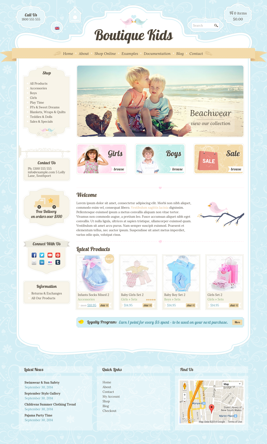 Boutique Kids Creative WordPress Theme by dtbaker | ThemeForest