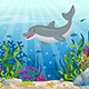 Illustration of Underwater Landscape with Dolphin - GraphicRiver Item for Sale