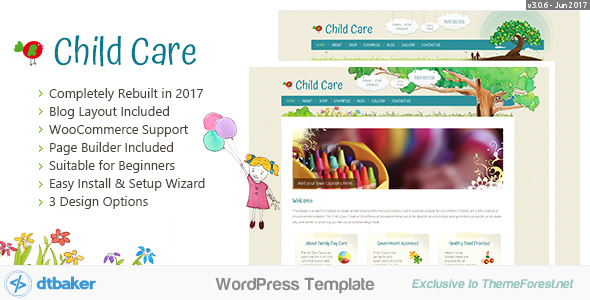 Child Care Creative - WordPress Shop Theme - Children Retail