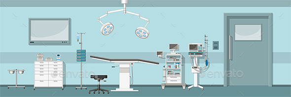 Illustration of a Operating Room - Health/Medicine Conceptual