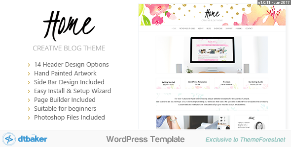 Home Blogger - Creative Shop Theme - Blog / Magazine WordPress