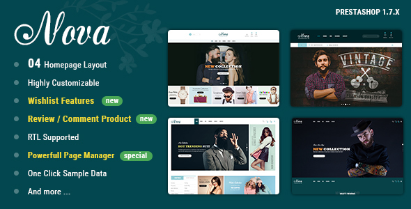 Nova - PrestaShop 1.7 Theme For Fashion Templates