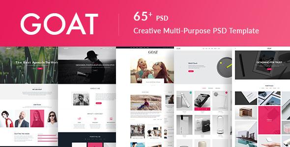 GOAT | Responsive Multi-Purpose PSD Template