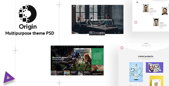 Origin – Minimal and Creative for Multipurpose Psd Template