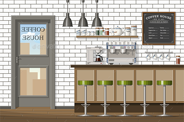 Classic Coffee Shop - Miscellaneous Vectors