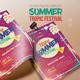 Summer Tropic Festival Flyer - GraphicRiver Item for Sale