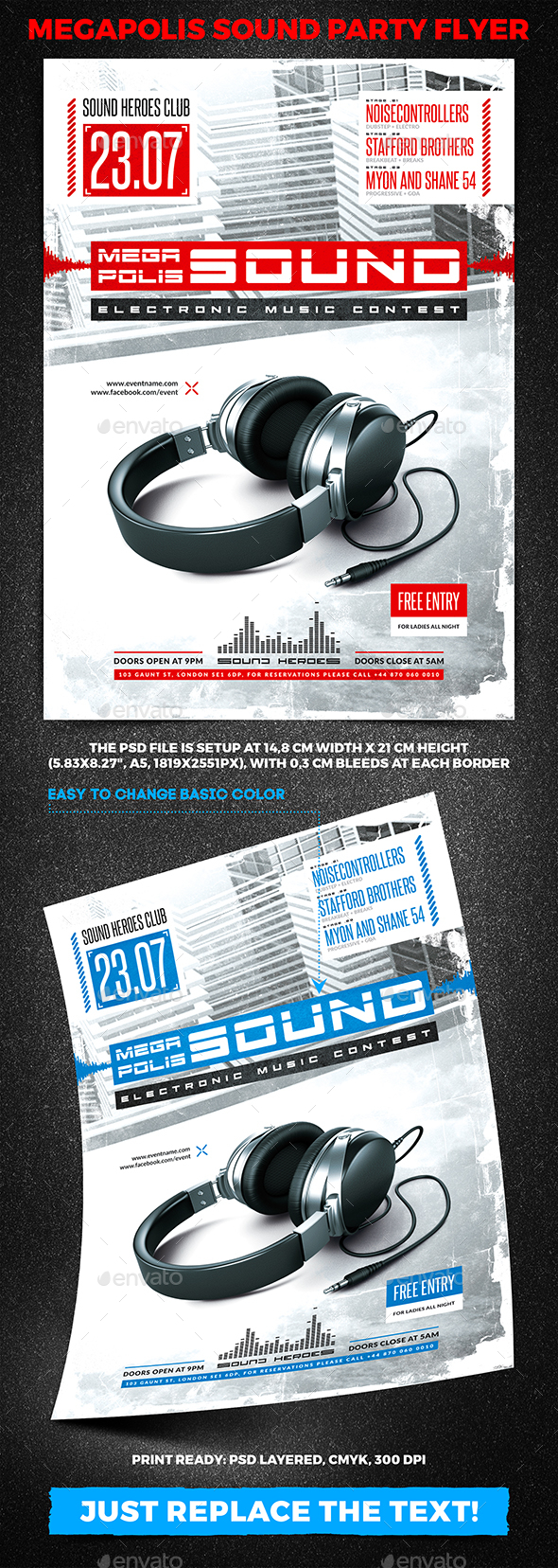 Megapolis Sound Party Flyer vol.3 - Clubs & Parties Events