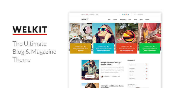 Welkit – Responsive Blog & Magazine Theme