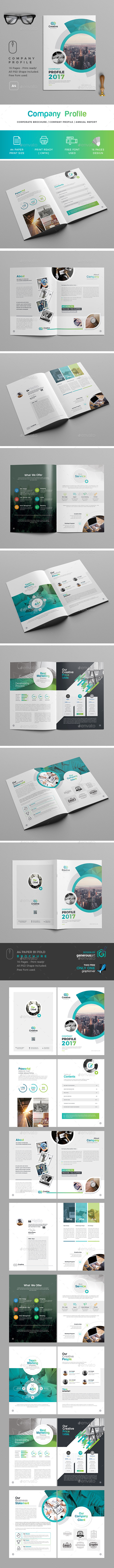 Company  Profile Template - Brochures Print Templates