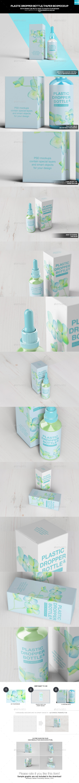 Plastic Dropper Bottle/ Paper Box Mockup - Miscellaneous Packaging