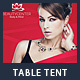 Beauty Center Table Tent Template - GraphicRiver Item for Sale