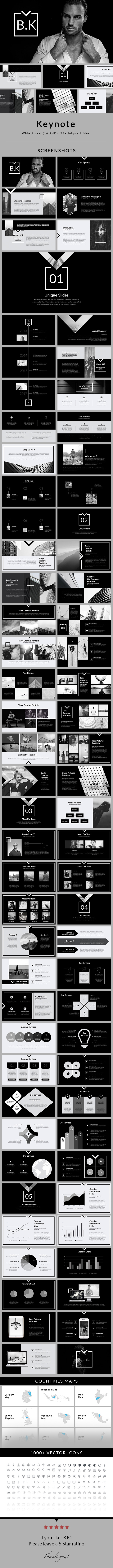 B.K - Keynote Presentation Template - Creative Keynote Templates