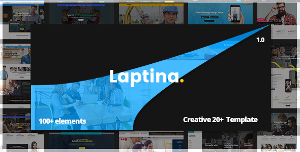 Laptina - Multi-Purpose Business & Financial Professional, Consulting  PSD Template - Business Corporate