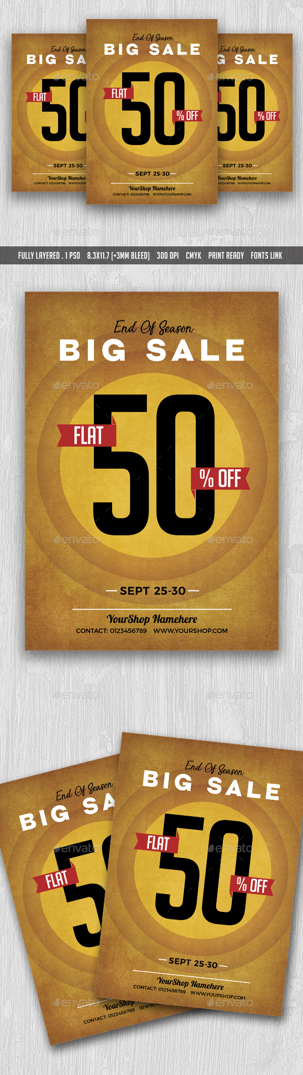 Big Sale Flyer Poster - Flyers Print Templates