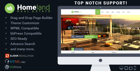 Homeland - Responsive Real Estate Theme for WordPress - Real Estate WordPress
