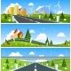 Scenic Road Through the Countryside. Vector - GraphicRiver Item for Sale