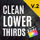 Clean Lower Thirds For Final Cut Pro X - VideoHive Item for Sale