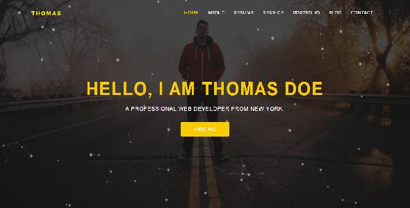 Thomas OnePage Personal Resume Template