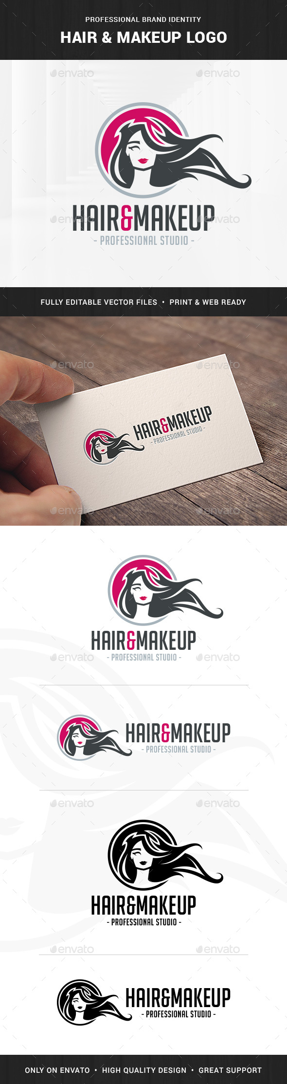 Hair & MakeUp Logo Template - Humans Logo Templates