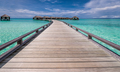 Beautiful beach with water bungalows - PhotoDune Item for Sale