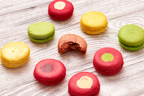 French delicious dessert macaroons - Stock Photo - Images