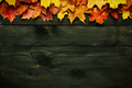 Wooden background with autumn leaves - PhotoDune Item for Sale
