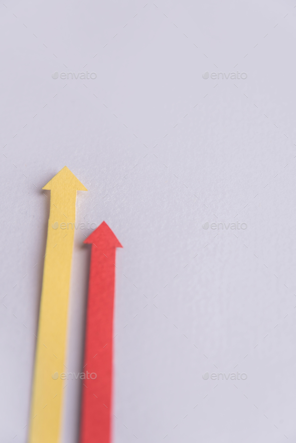 Business graphics arrows isolated over grey background. - Stock Photo - Images