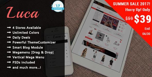 Luca - Shopping Responsive Prestashop 1.7 Theme - Shopping PrestaShop