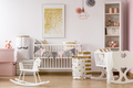 Nursery with golden dots poster