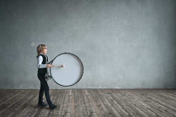 Musician with drum - Stock Photo - Images