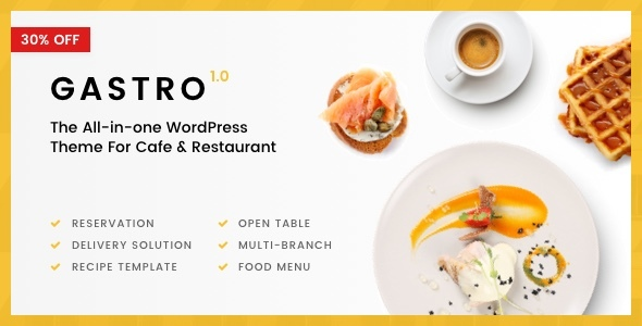 Gastro – Multi-Purpose Cafe & Restaurant WordPress Theme