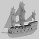 Low_poly ship - 3DOcean Item for Sale