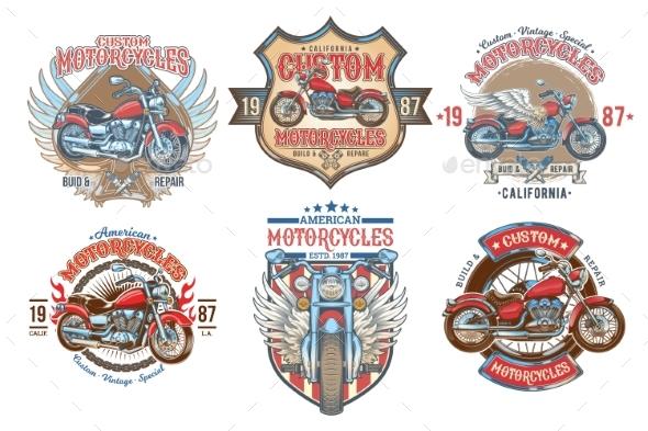 Set Vector Color Vintage Badges - Miscellaneous Vectors