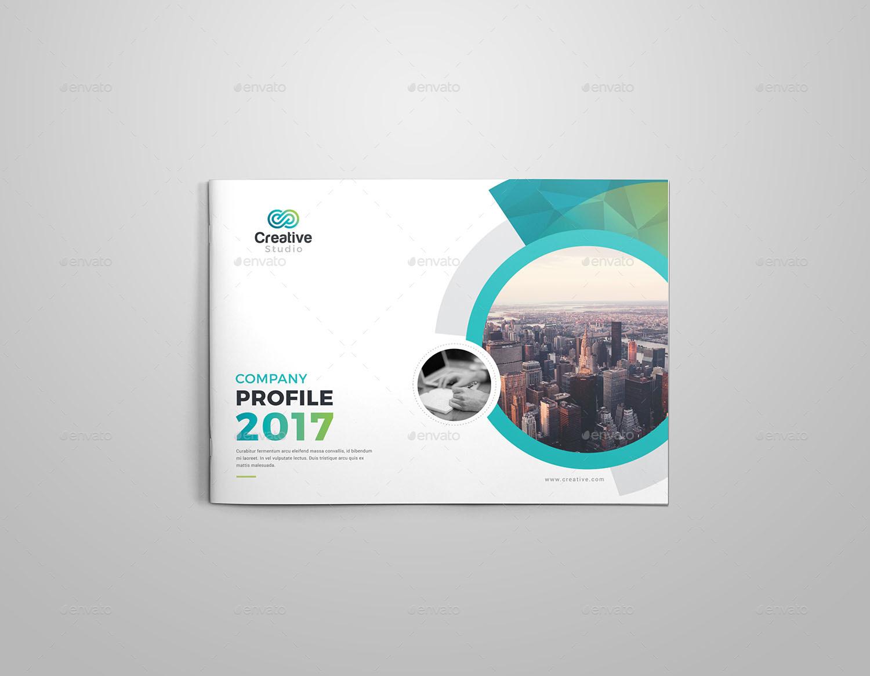 company profile landscape brochure template by generousart