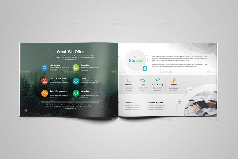 Company Profile Landscape Brochure Template By Generousart - Technical brochure template
